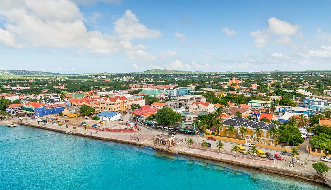 Aerial View, Waterfront Kralendijk, Bonaire, Hurricanes' Impact on Travel
