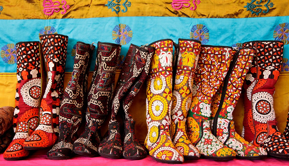 Turkmenistan Boots, Folk Art Market, Santa Fe, Great Places to Go This Summer