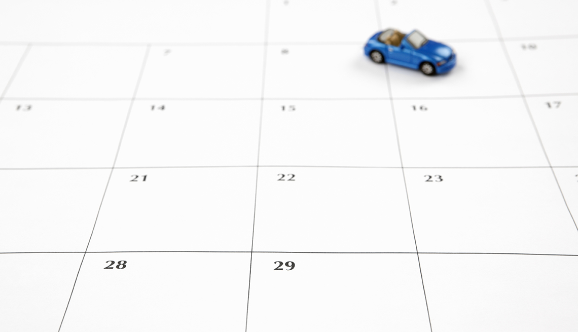 Blue Toy Convertible Car, Calendar Page, Tips for Stretching Your Car Rental Dollars