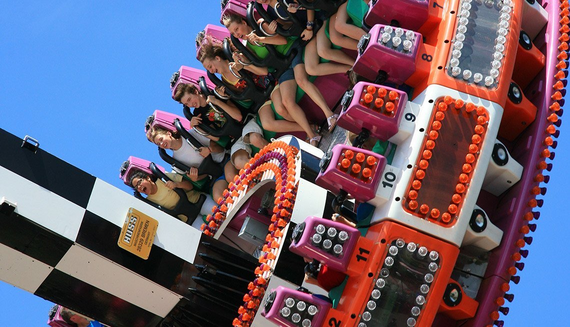 Close Up Of People Riding Carnival Ride At Canobie Lake Park In New Hampshire, Best Amusement Parks For The Family