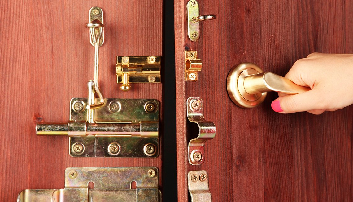 House Door Latches, Bolts, Tips to Keep Your Home Safe While You're Away