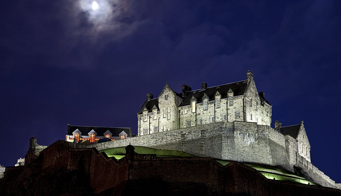 Edinburgh Castle At Night In Scotland United Kingdom, World's Best Castles
