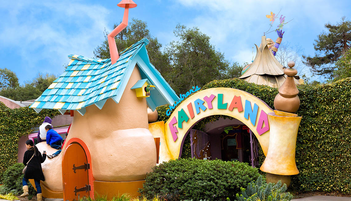 Entrance To Fairytale Amusement Park In California, Best Amusement Parks For The Family
