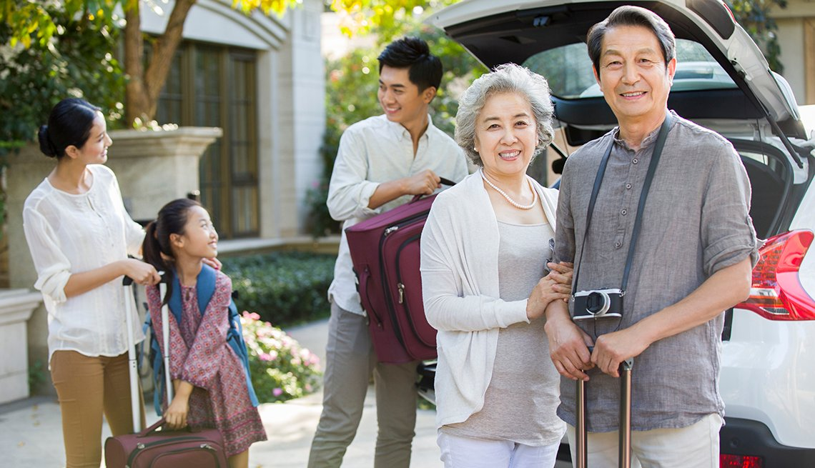 Asian-American Mulit-Generational Family, Packing Car for Road Trip, How to Plan a Stress-Free Multigenerational Vacation