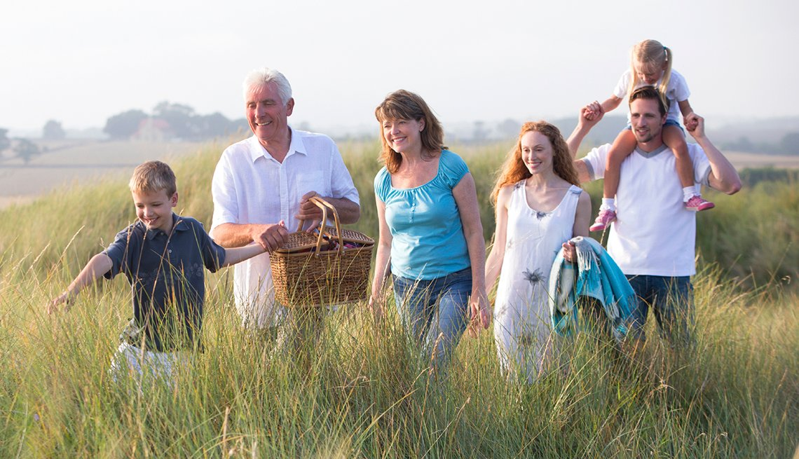 Multi-Generation Caucasian Family in Field, Tall Grass Picnic, How to Plan a Stress-Free Multigenerational Vacation