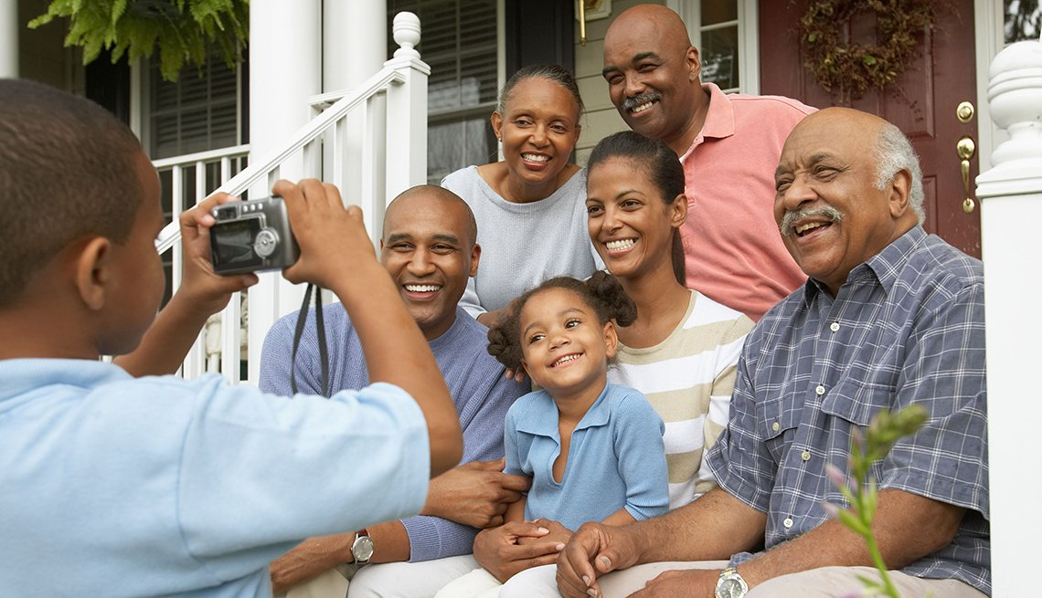Multi-Generation African-American Family Posing, How to Plan a Stress-Free Multigenerational Vacation