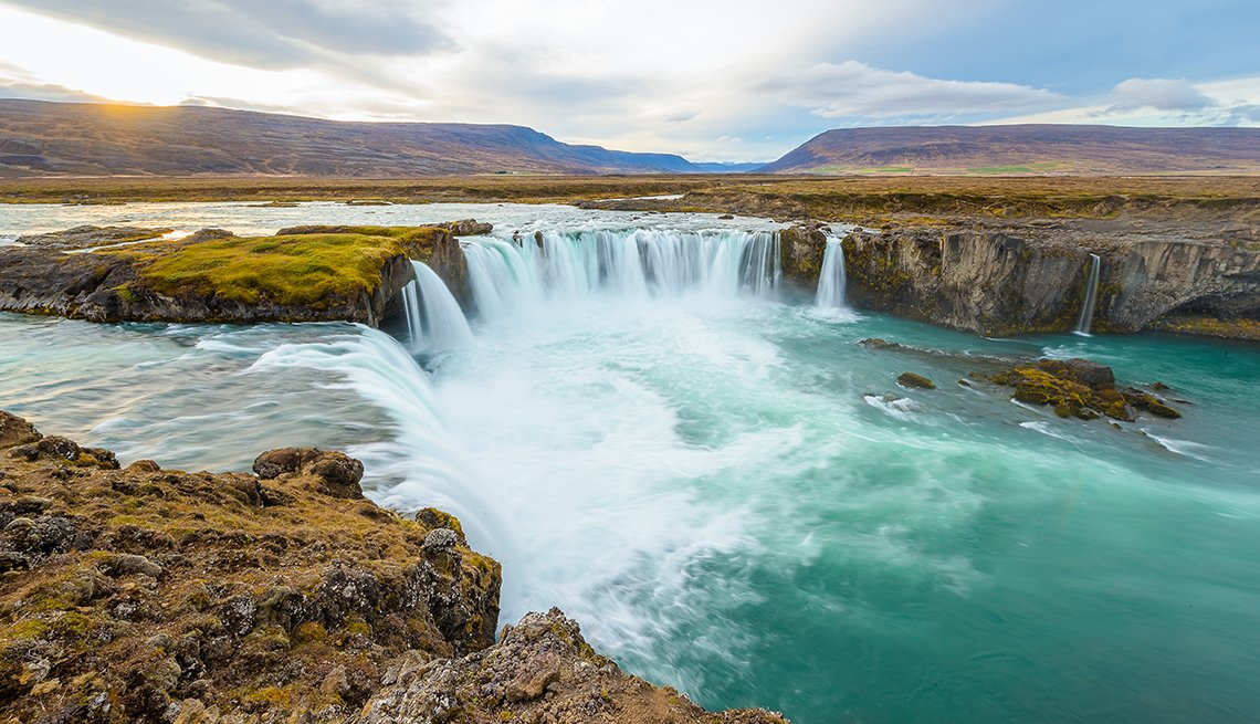 Godafoss Waterfall, Iceland, Americans Hot on Iceland