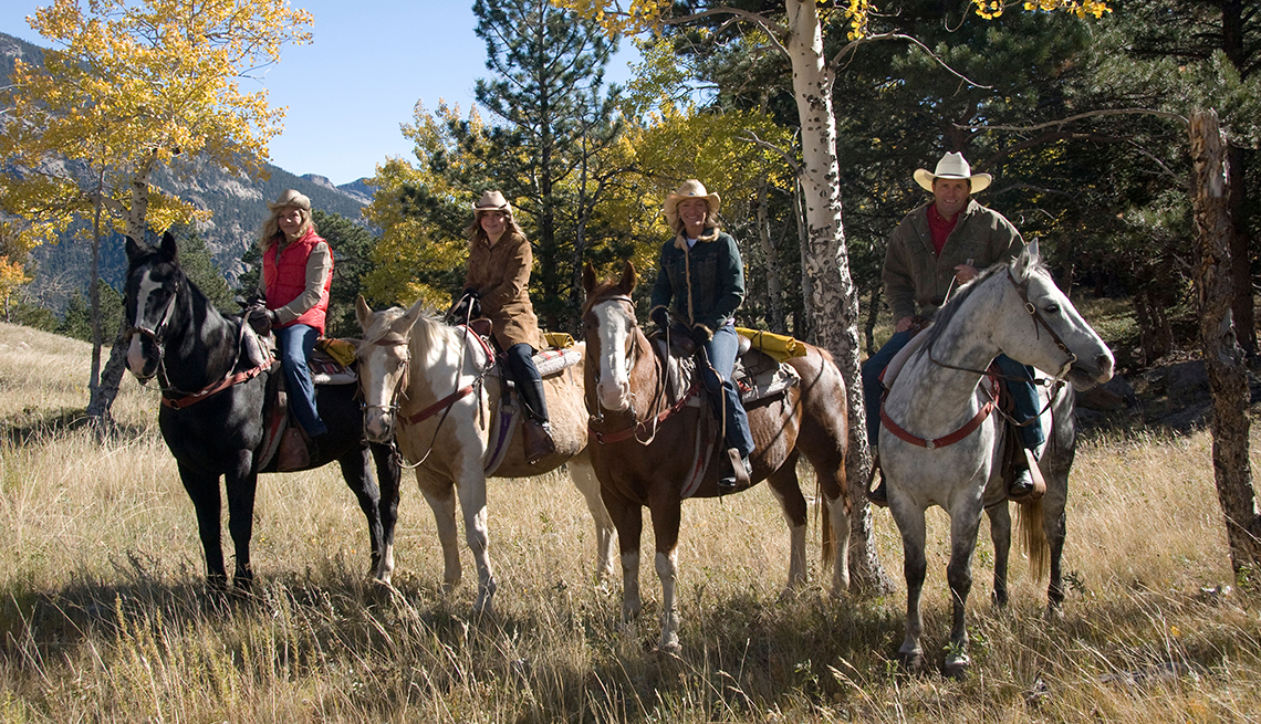 Family Horseback, Rocky Mountain National Park, Estes Park, Great Places for a Multigenerational Vacation