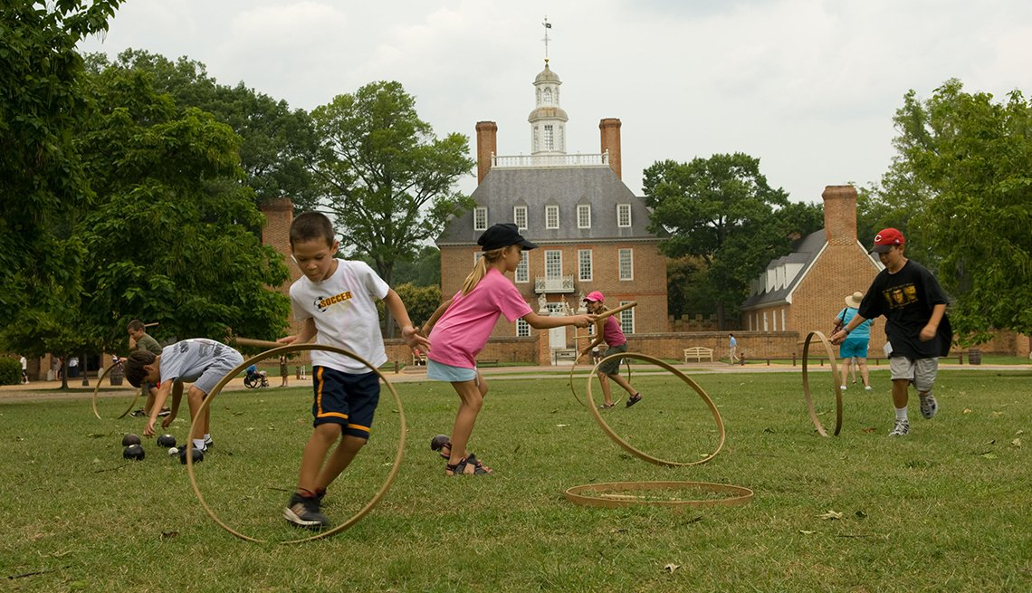 Children Playing, Colonial Williamburg,  Great Places for a Multigenerational Vacation