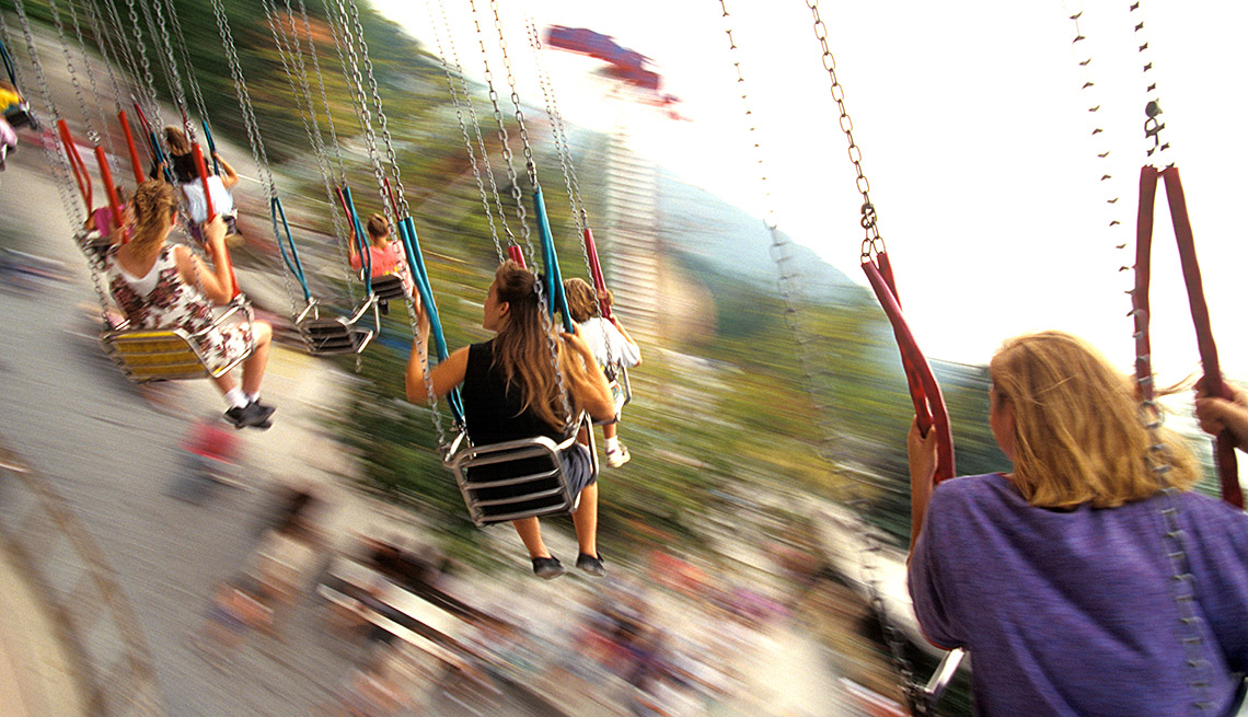 The Swing Ride At Knoebels Park In Elysburg Pennsylvania, Best Amusement Parks For The Family