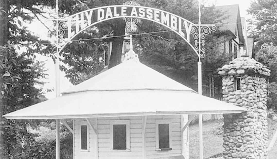 Entrance To The Lily Dale Assembly Near Buffalo New York, Strange Destinations