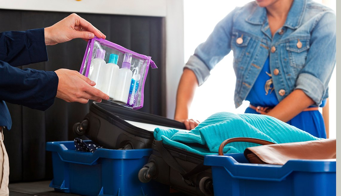 Clear Bag of Liquids, Airport Security Scan, Airport Navigation Tips