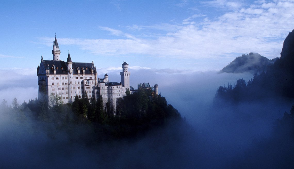 View Of Neuschwanstein Castle In Germany With Mist, World's Best Castles