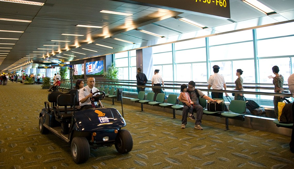Golf Cart Passenger Concourse, Singapore, Airport Navigation Tips