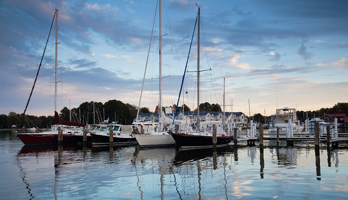 Salboats Reflect4ed in Water, St. Michaels, Maryland, Romantic Getaways for 2016