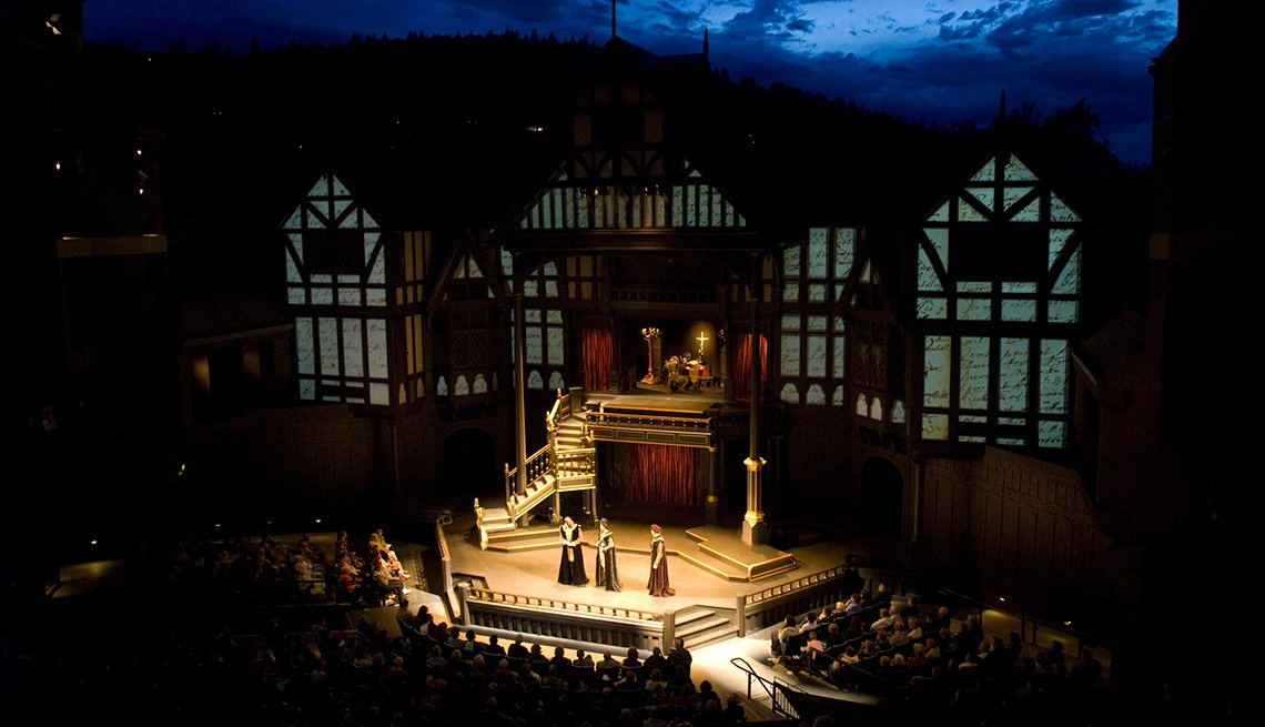 Outdoor Stage, Evening, Oregon Shakespeare Festival, Ashland, Great Places to Go This Summer
