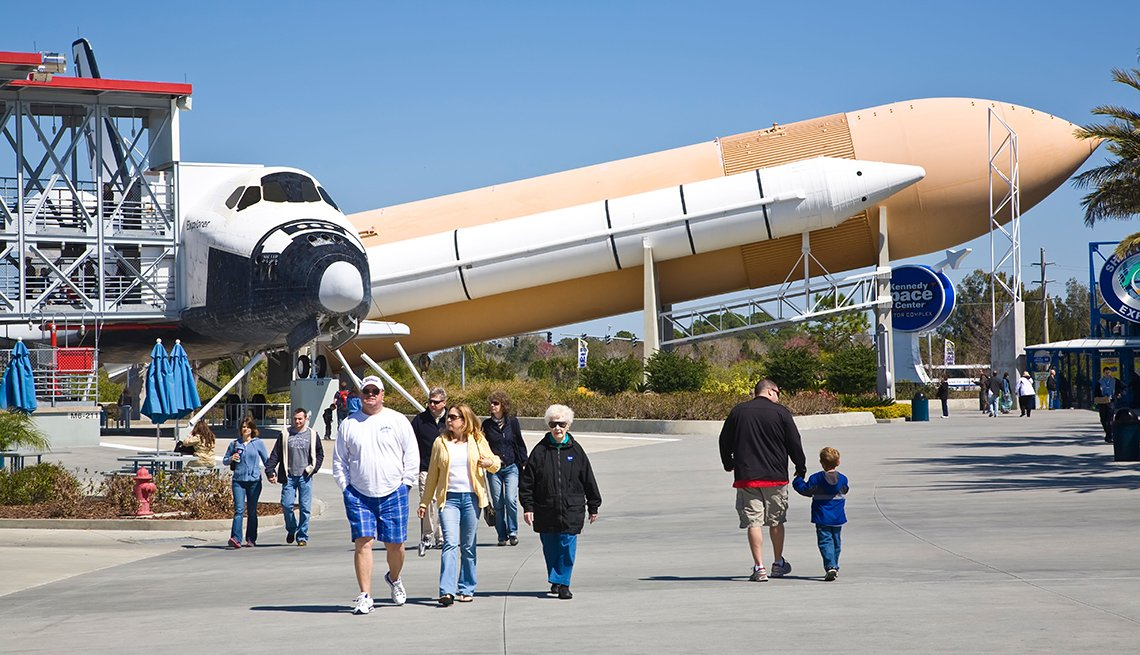Space Shuttle, NASA Booster Rockets, Cape Canaveral, Florida, Great Places for a Multigenerational Vacation