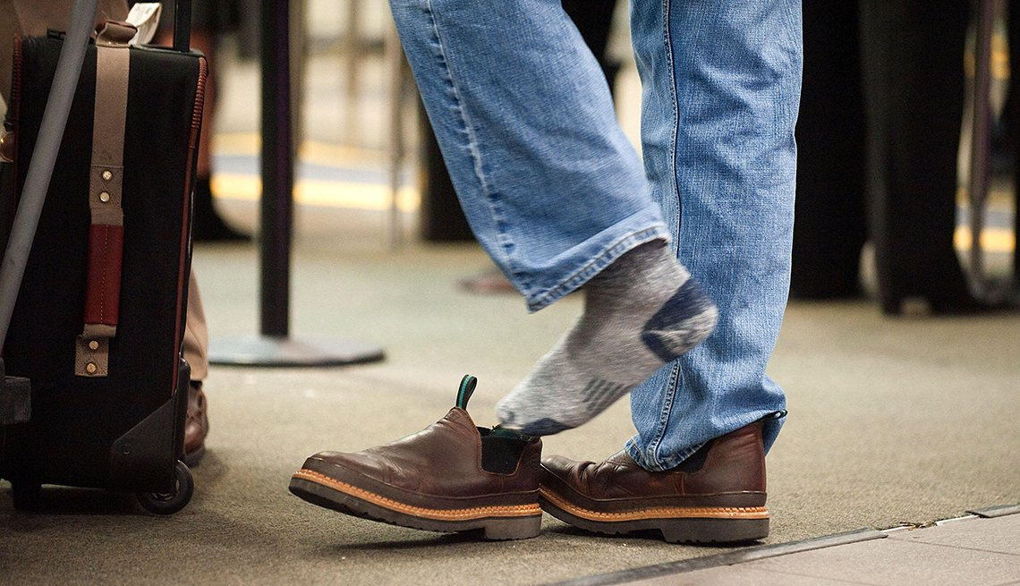 Slip On Shoes, Jeans, Airport Security, Airport Navigation Tips