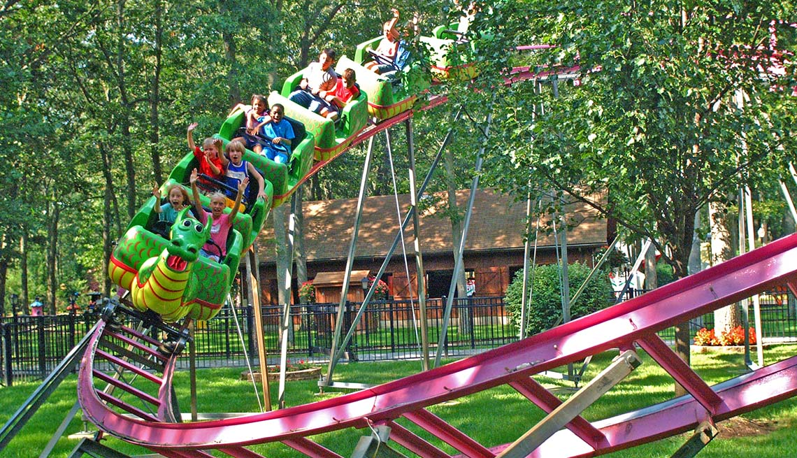 Roller Coaster At Storybook Amusement Park In New Jersey, Best Amusement Parks For The Family