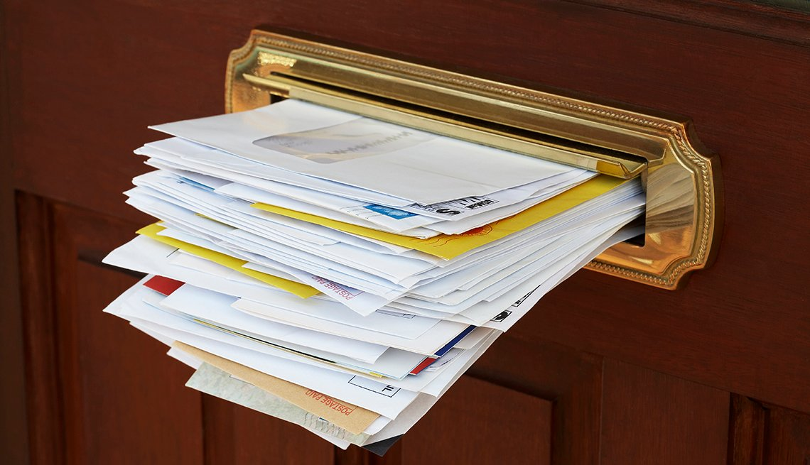 Letters in Mail Slot, Brass Plate Wooden Door, Tips to Keep Your Home Safe While You're Away