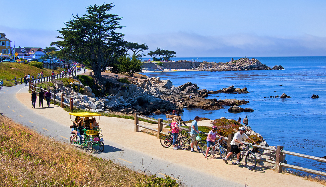 Trail on Monterey Bay, Ocean Rocks Trees, California, Great Places for a Multigenerational Vacation