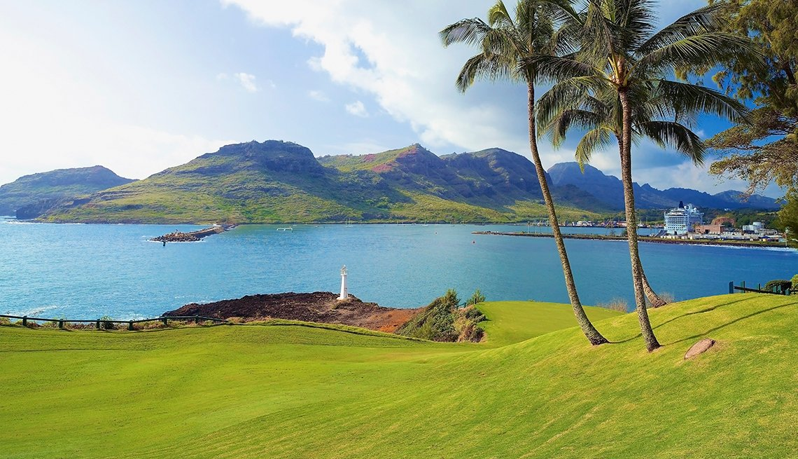 Palm Trees, Harbor, Kauai Lagoon Golf Club, Golf Cruises, Great All-Inclusive Vacations