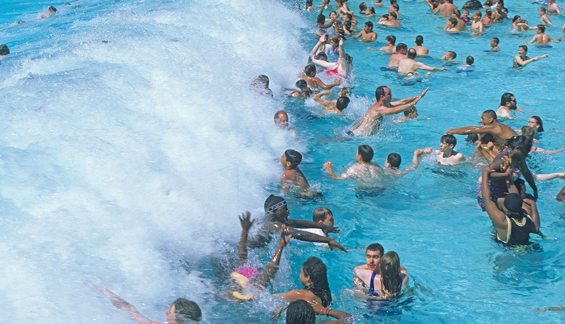 Waves, Swimmers, Pool, Typhoon Lagoon, Disney, Orlando,  Best Water Parks in America