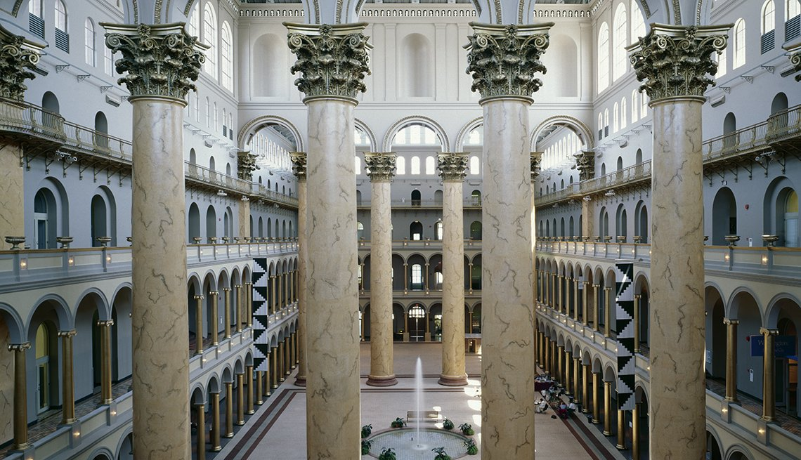 The Interior Of The Main Entrance At The National Building Museum In Washington, DC, Ghost Tours