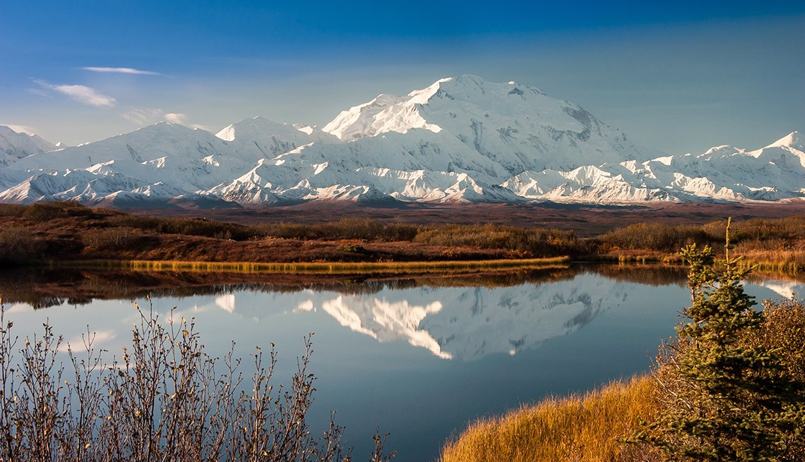 Denali Mountain Reflected In Wonder Lake, Travel Picks For 2017