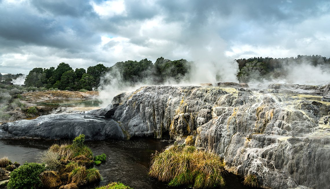 Smoke Rises From A Natural Hot Spring In New Zealand, Travel Picks For 2017