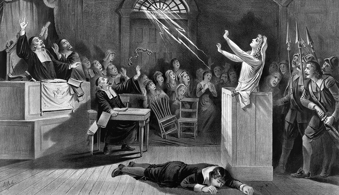 A Painting Of The Salem Witch Trials, Ghost Tours