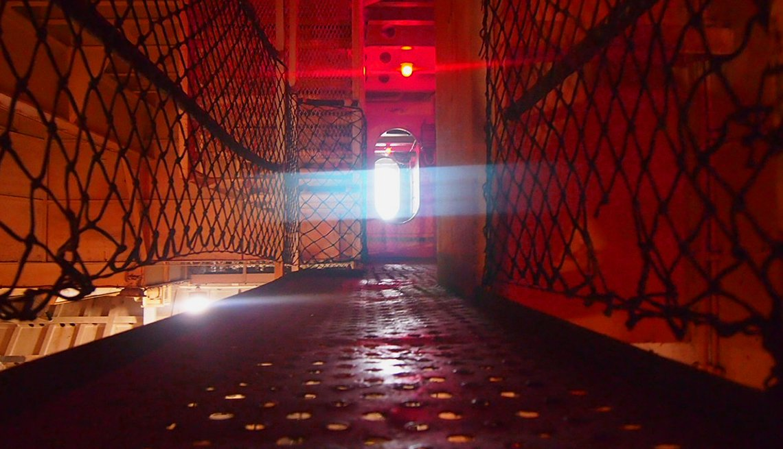 Red Light Makes The USS Yorktown Creepy, Ghost Tours