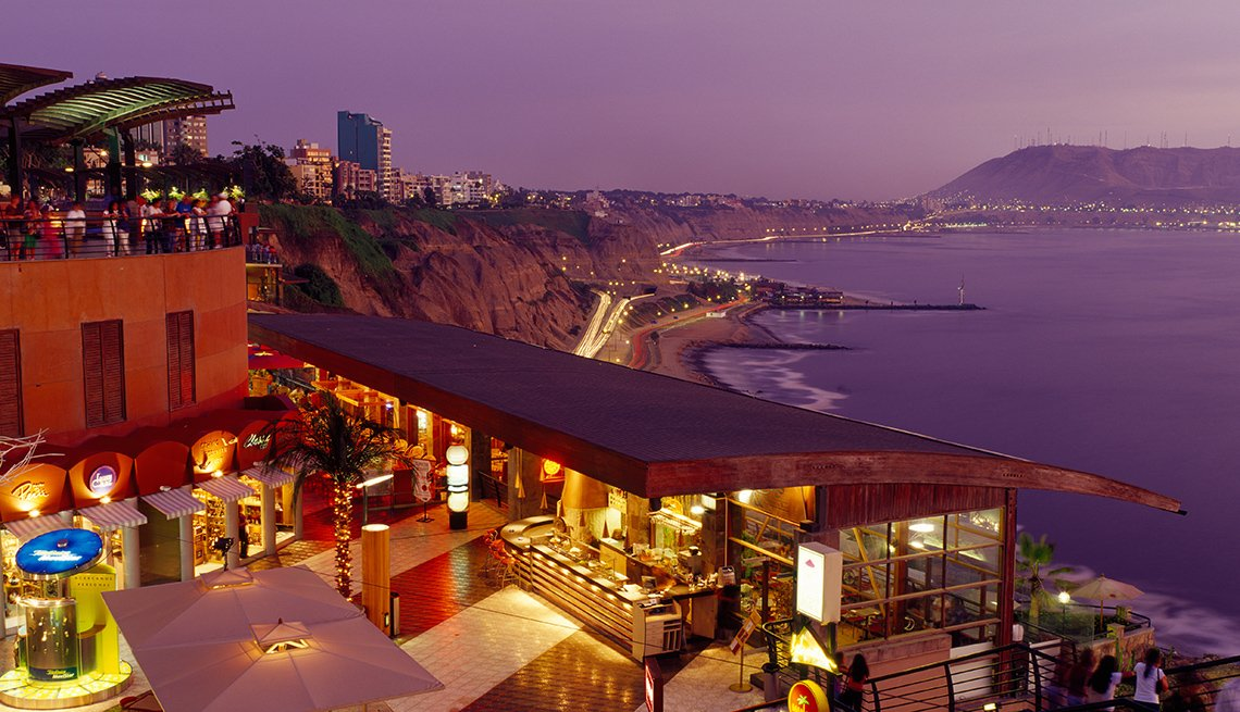 A Resort On The Coastline Of Lima Peru At Night, Travel Picks For 2017