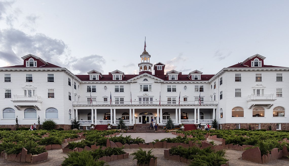 The Front Of The Stanley Hotel In Colorado, Ghost Tours