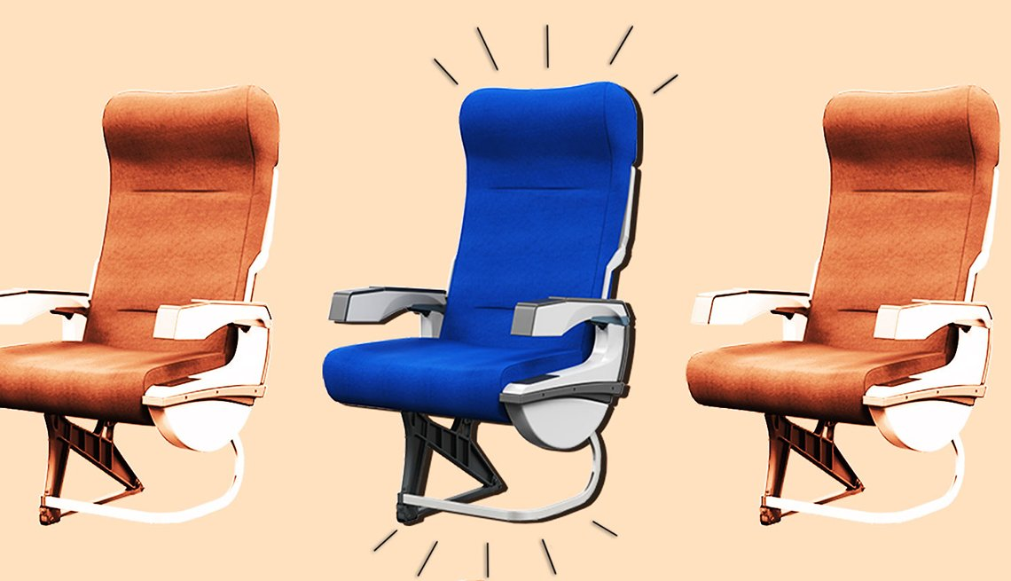 graphic of three airline seats