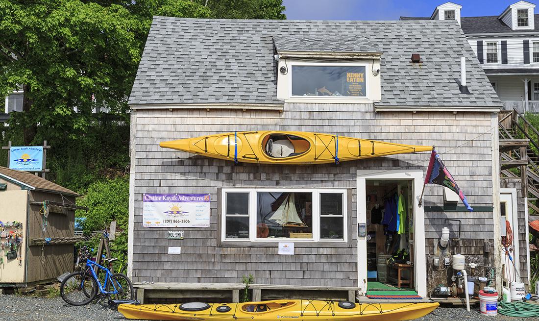 Kayak and bike rental small business shop,