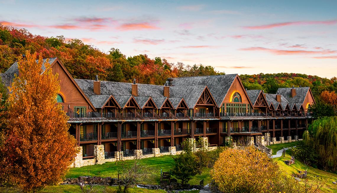 item 5 of Gallery image - autumnal view of Falls lodge at Big Cedar Lodge in Ridgedale, Missouri