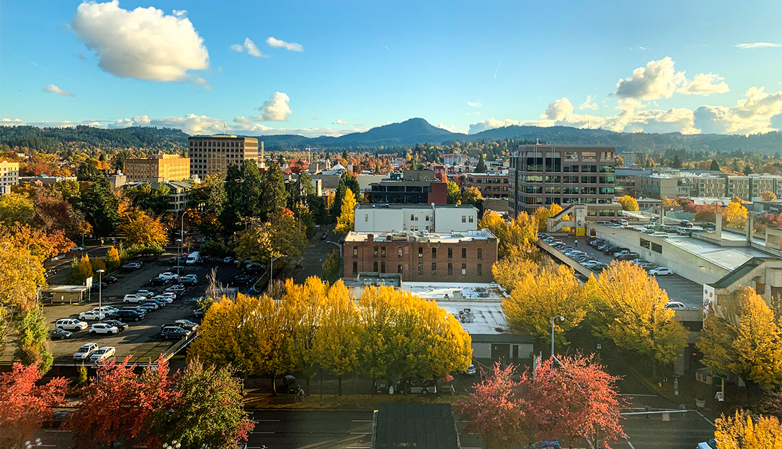 Downtown Eugene in the fall