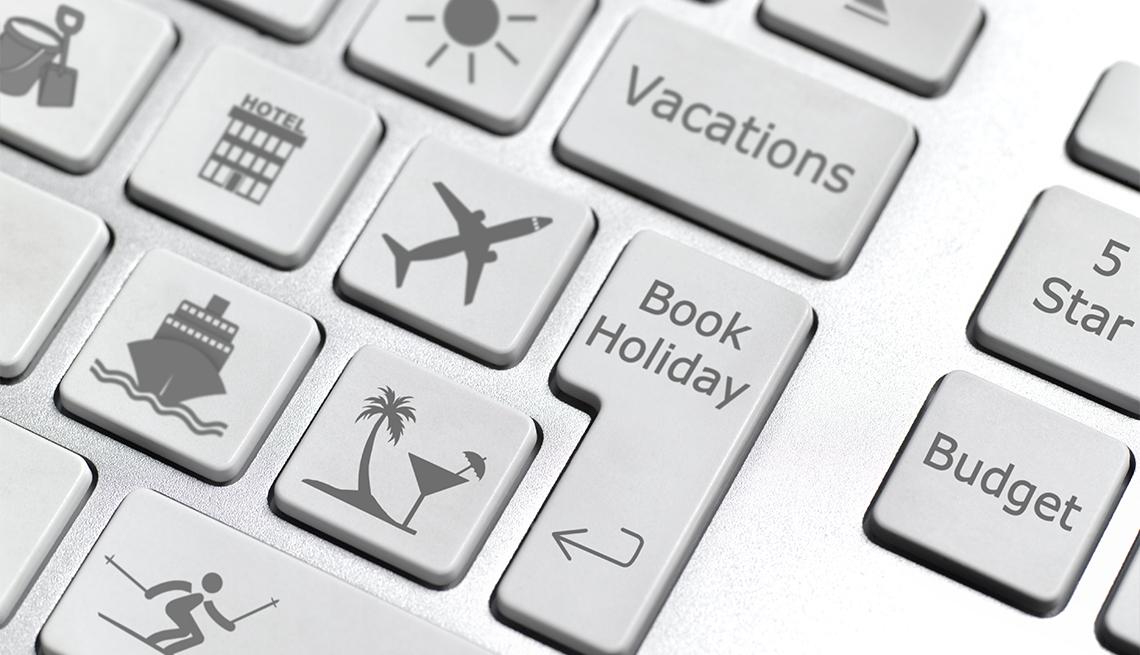 travel-themed keyboard