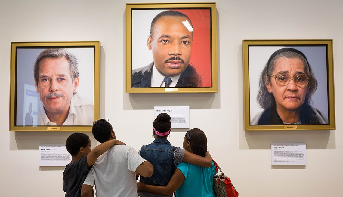 people viewing exhibit at the National Center for Civil and Human Rights