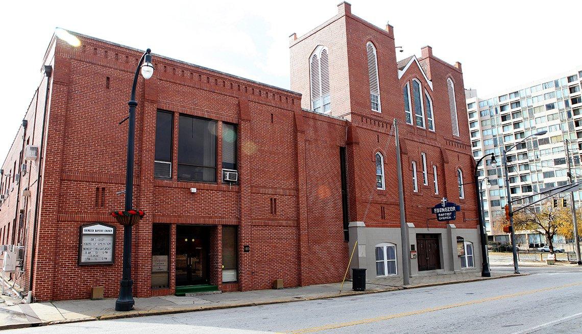 Historic Ebenezer Baptist Church, in Atlanta, Georgia