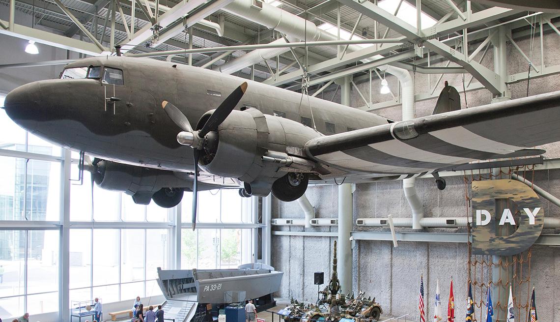 Avión expuesto en el Museo Nacional de la Segunda Guerra Mundial