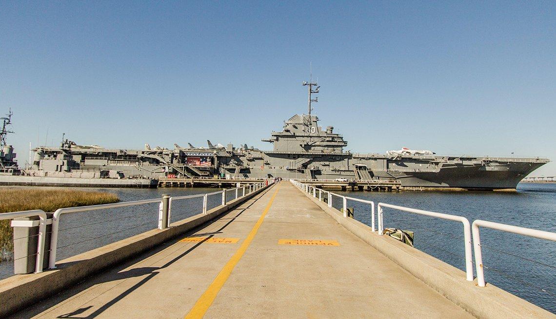 The U S S Yorktown aircraft carrier