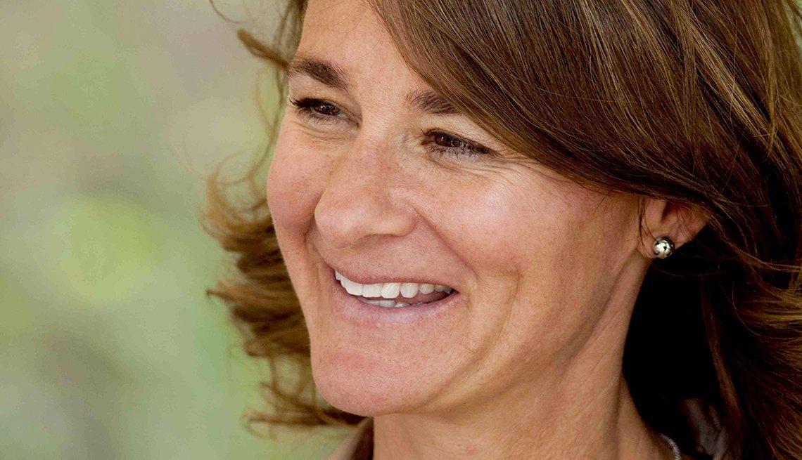 Melinda Gates en un viaje a África
