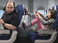 AARP and Frommers: How to handle bad behavior on planes: Kicking kids