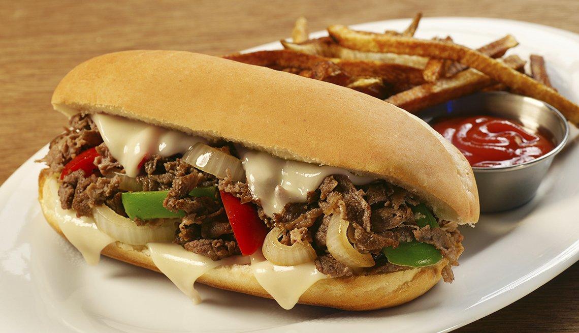 Mejores ciudades para la gastronomía - Sanduche típico de Filadelfia
