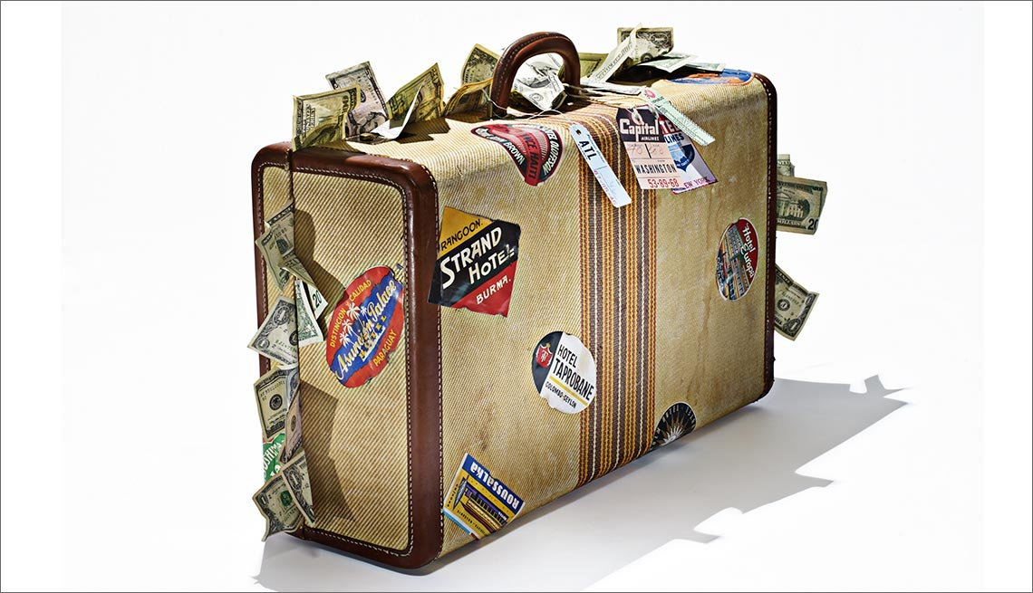 Suitcase Stuffed With Cash, Money Report On Travel Insurance