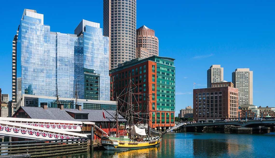 Ciudad de Boston en el horizonte