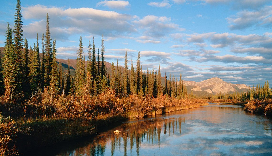 View Of Lake And Mountains At The Gates Of The Arctic National Park In Alaska USA, Under The Radar Destinations
