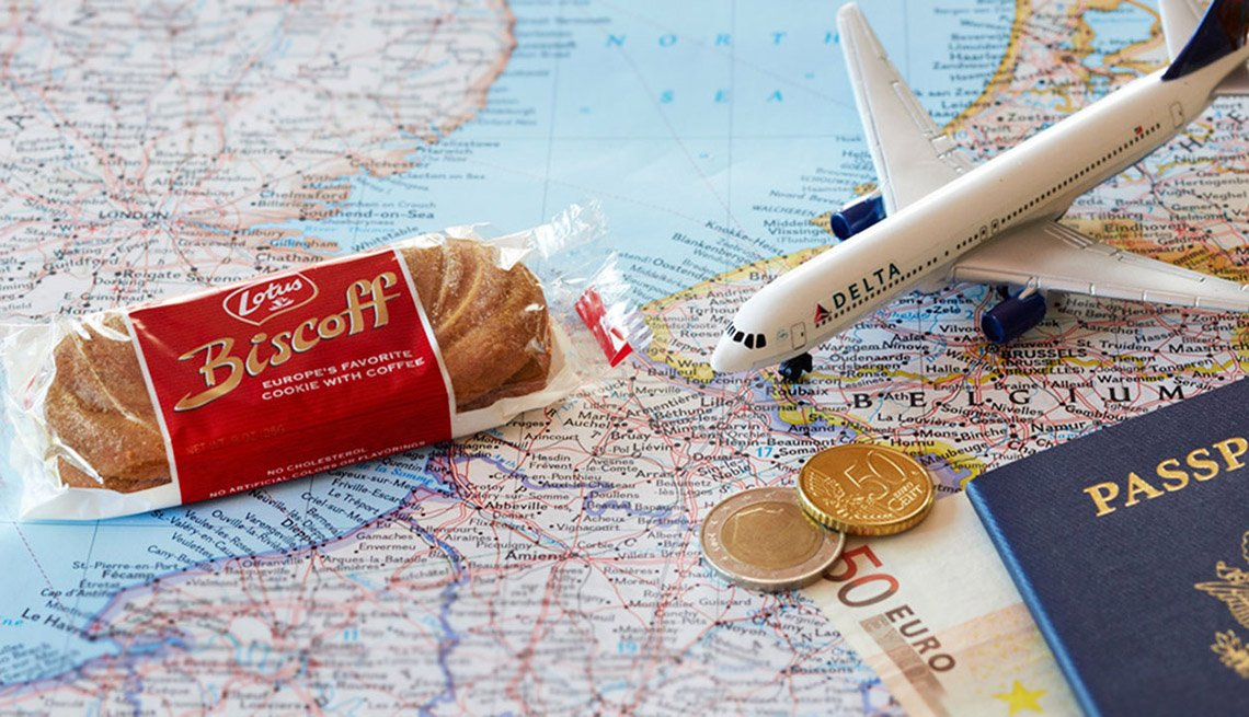 Biscoff Cookies Which Are Offered As An In Flight Snack, Airline Freebies